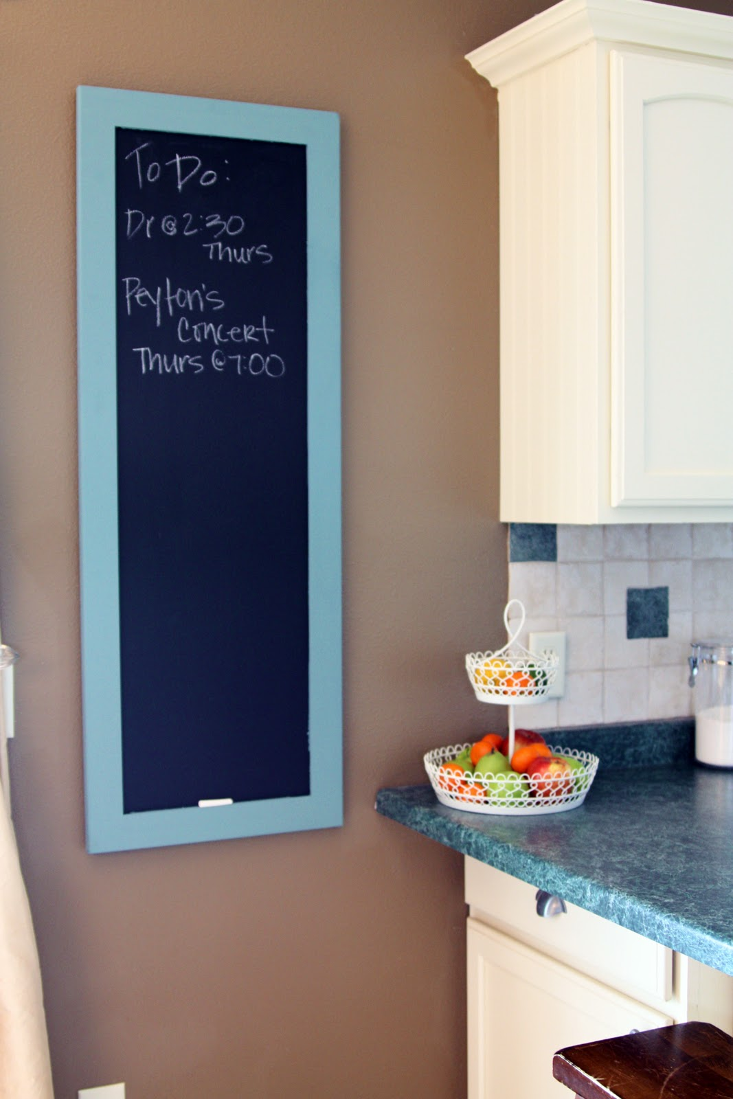 Iheart organizing project teal chalk it to me again for Kitchen chalkboard