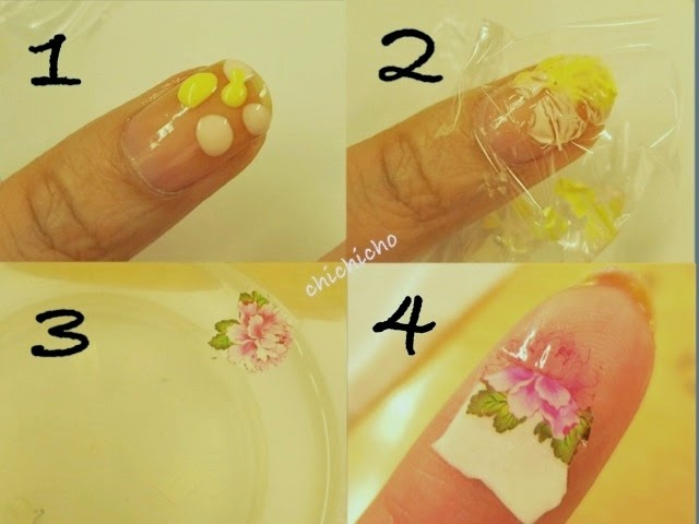 Peony Water Decal Nail Art