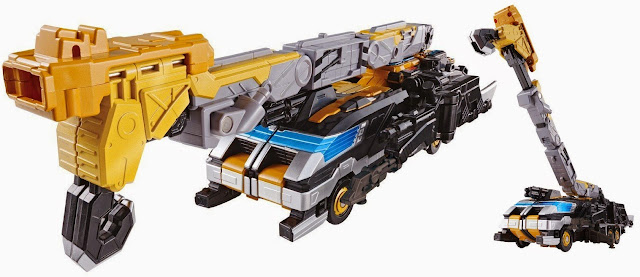 Chiếc Xe cẩu Buster Vehicle BC-04 DX Go Buster Beat tổng chiều dài 33 cm