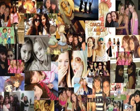 Collage de fotografias como recuerdo
