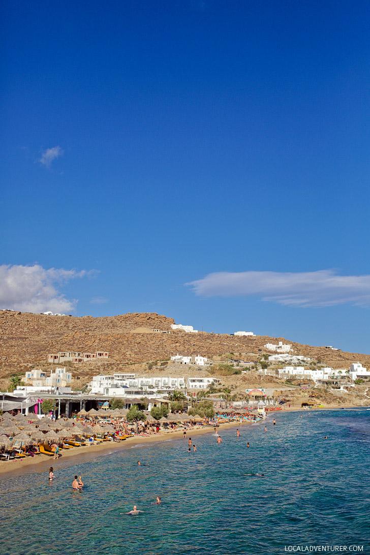 Paradise Beach Mykonos (15 Best Beaches in Greece).