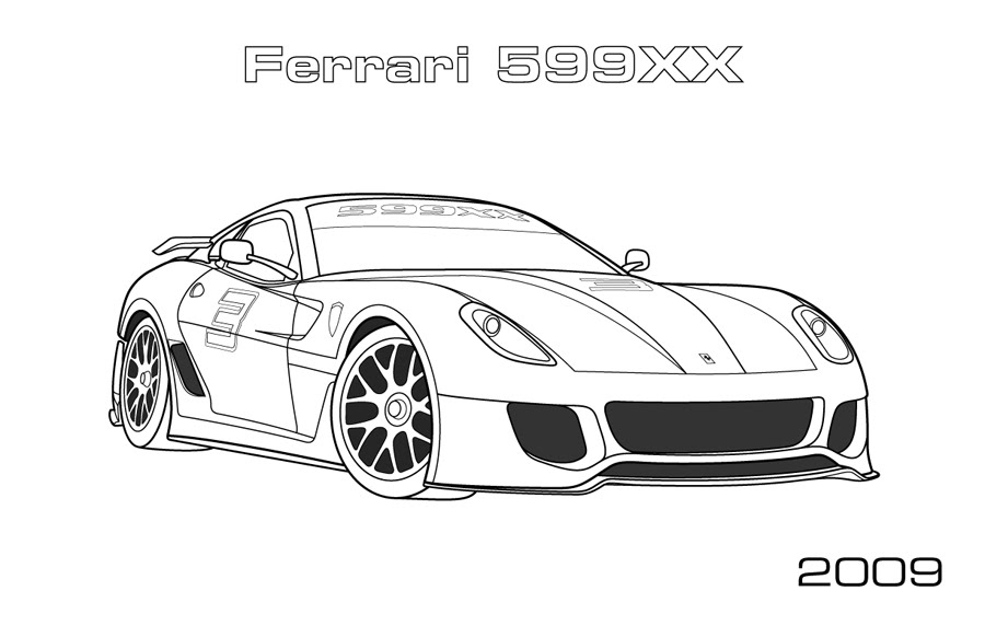 Ferrari 599xx Coloring Page Car Coloring Pages