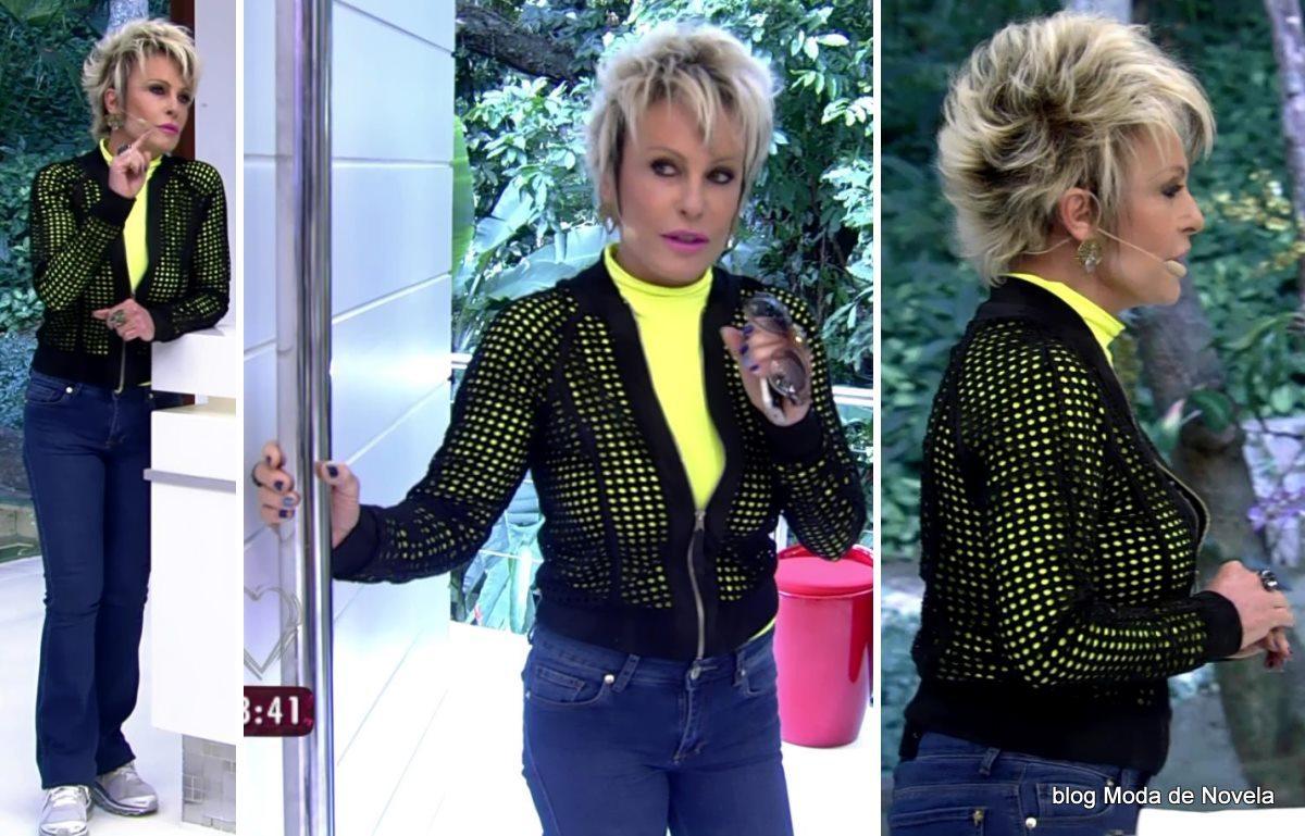 moda do programa Mais Você - look da Ana Maria Braga dia 22 de maio