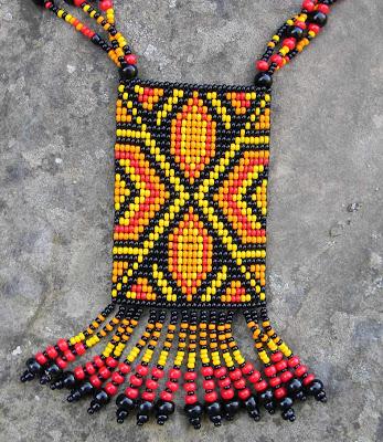 купить этнические яркие украшения из бисера