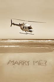 pedido de casamento helicóptero