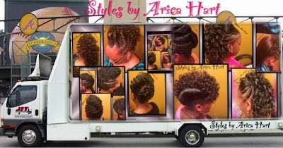 A variety of black hair styles