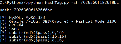 single hash example 2