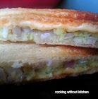 Instant minty potato toast-  Pudinawale alu toast