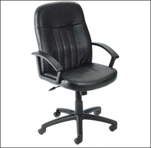 bosschair B8106 contemporary black leather office chair