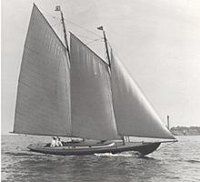 Dennis Conner's gaff-rigged schooner FAME