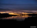 Solnedgang over Mjels sø