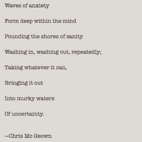 anxiety poems
