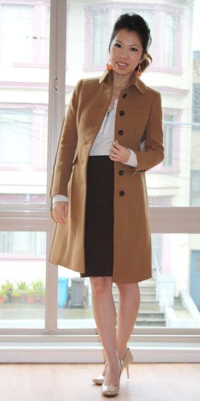 All About Fashion Stuff J Crew Double Cloth Lady Day Coat Metro Coat