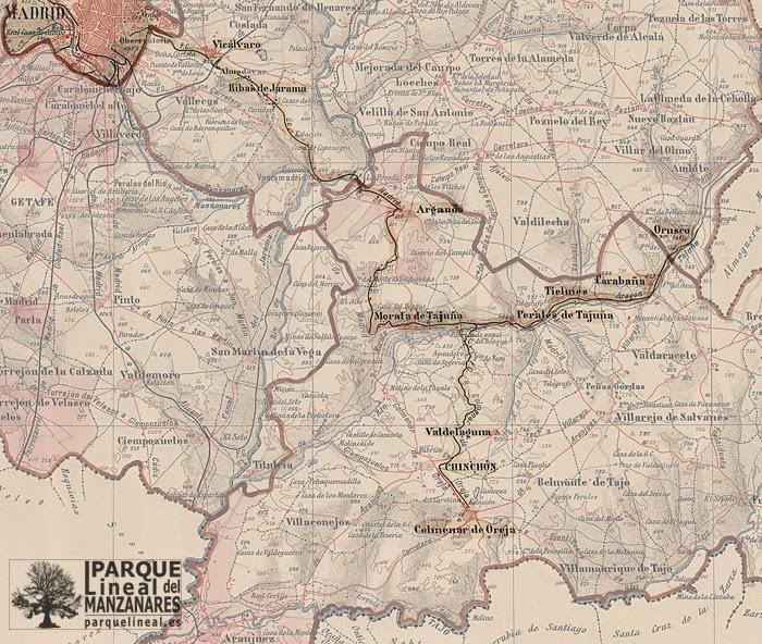 mapa del tren de arganda
