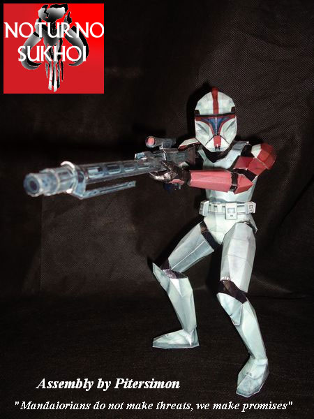 Star Wars Clone Sniper Clone Trooper Captain Papercraft