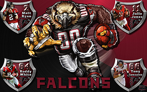 Falcons Crazy Logo Shield Players Wallpaper