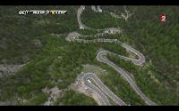 Vue aérienne des lacets versant Nord lors du Tour de France 2014