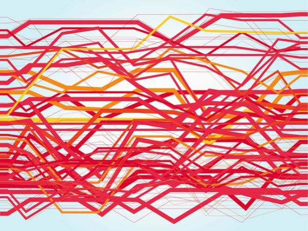 Abstract Lines Layout Vector Art Background
