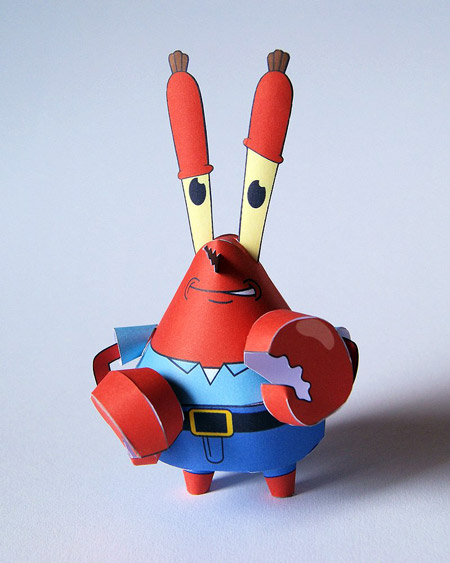 Mr. Krabs Papercraft