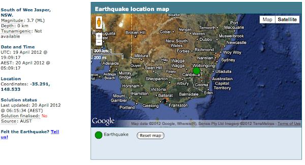 earthquake plot