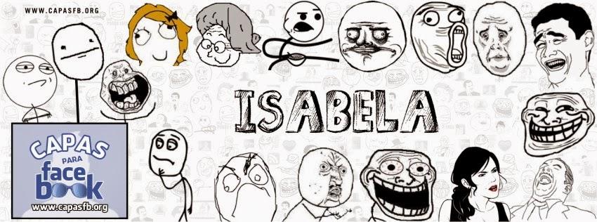Capas para Facebook Isabela