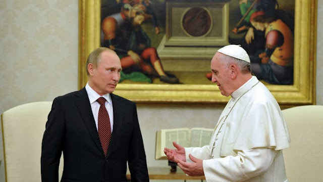 Historic meeting of Pope Francis with Russian President Putin