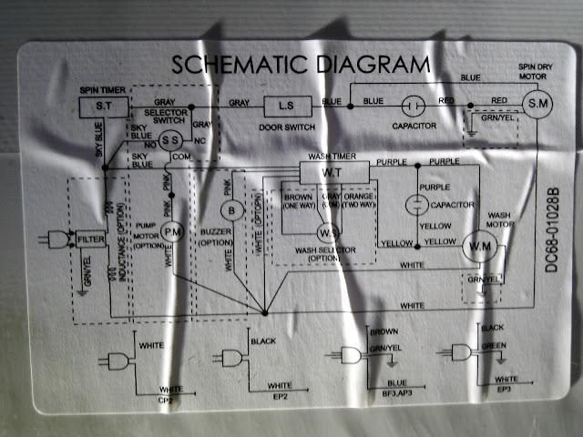 Samsung WT10J Schematic Diagram - Inside Machine