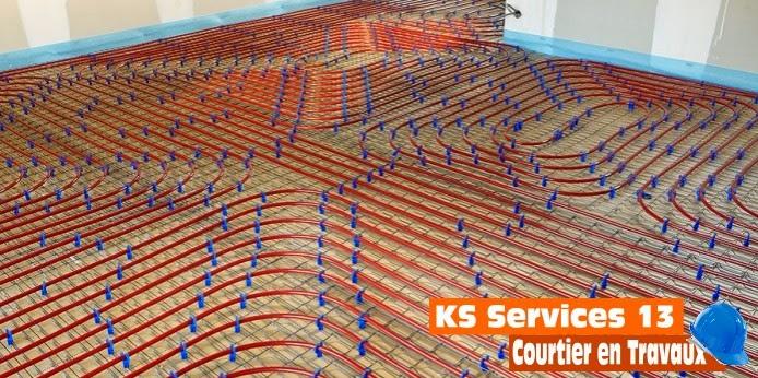 Ks services 13 pose de plancher chauffant martigues et bouches du rh ne for Plancher chauffant renovation carrelage