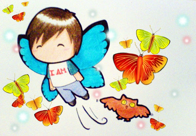 [Animation Pics] Owl City Chibi cực cute! ButterfliesWing