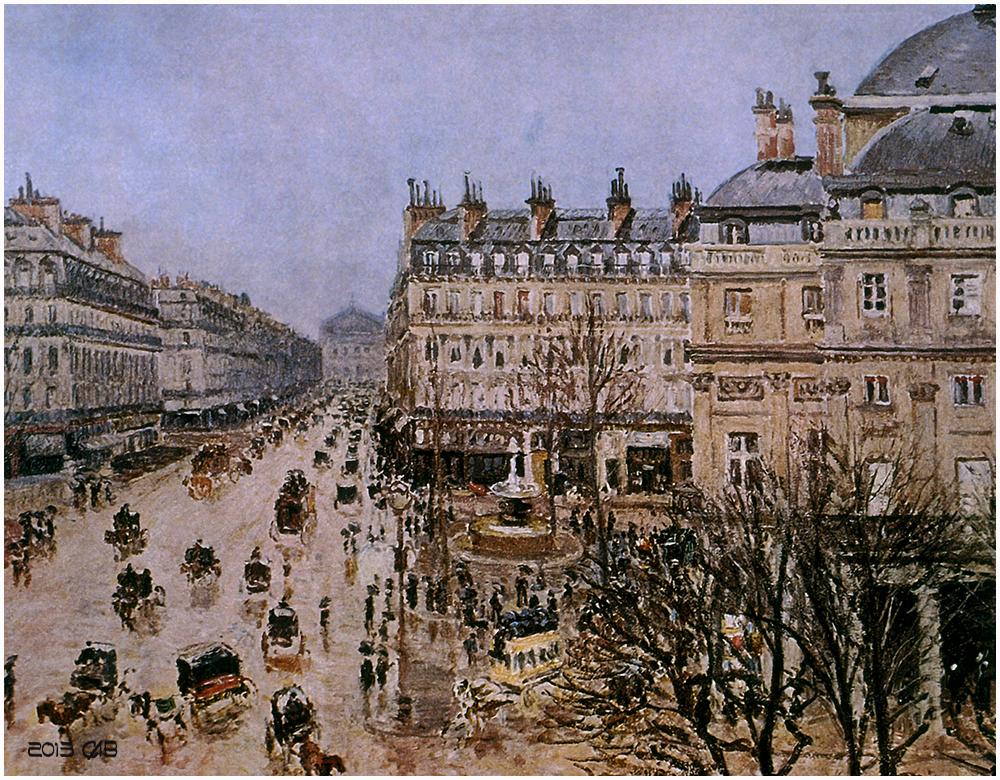 Testclod place du th tre fran ais 1898 oeuvre de for Camille pissarro oeuvre