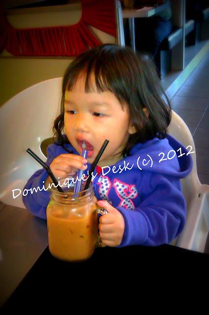 Drinking Ice Milk Tea