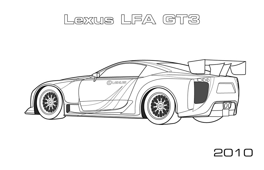 Lexus Lfa Gt Coloring Page Car Coloring Pages