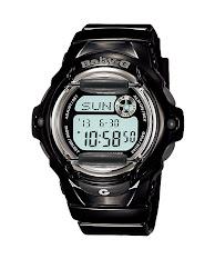 Jam Tangan Wanita Analog-Digital Tali Karet Warna Putih  Casio Baby G : BGA-195M-7A