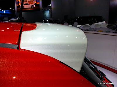 Fiat 500e rear spoiler