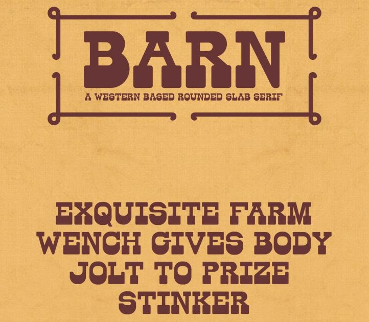 barn free font