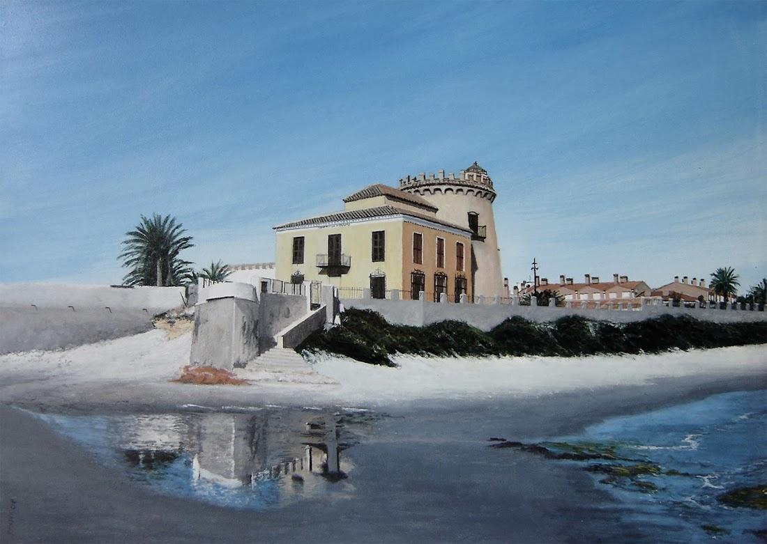Antonio Tapia pintura en acrílico,Torre de La Horadada