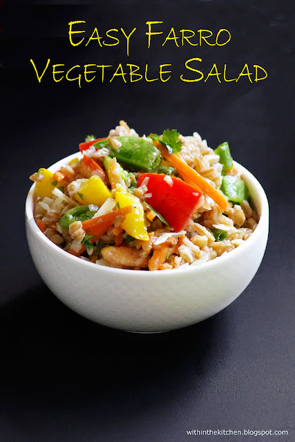 Farro Summer Vegetable Salad | Within the Kitchen