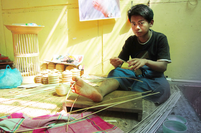 Lacquerware maker near Bagan, Burma