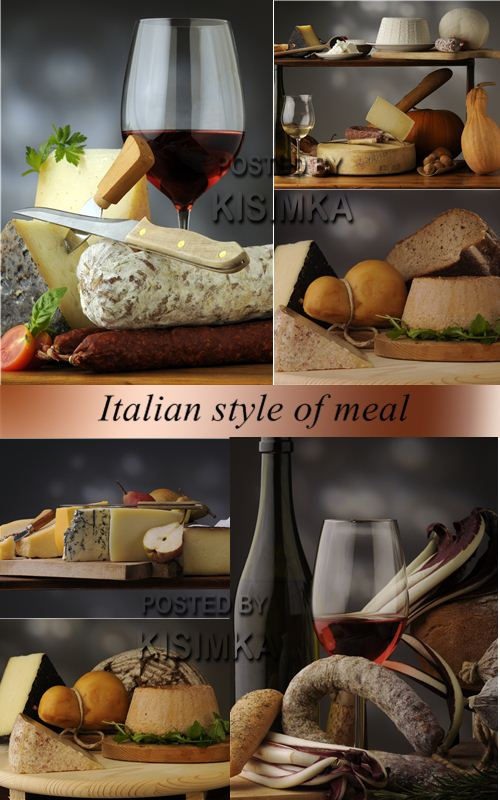 Stock Photo: Italian style of meal