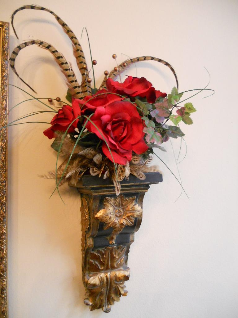 Burkett Blessings: Decorating with Floral Arrangements on Silk Flower Wall Sconces Arrangements id=18762