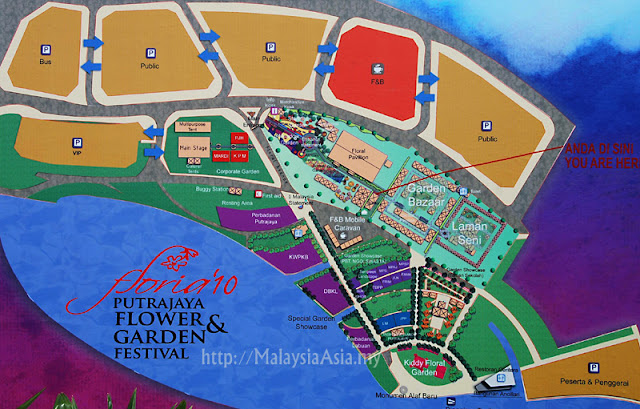 Map for Floria Putrajaya