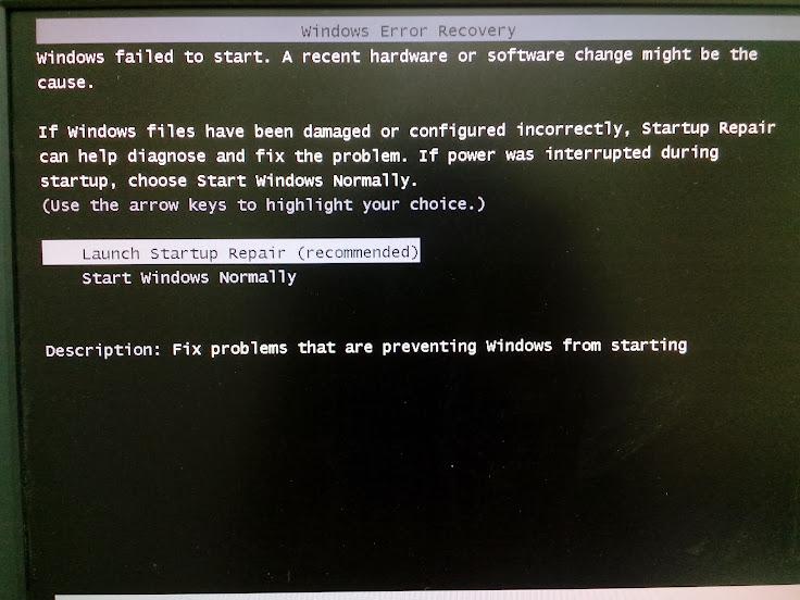 Windows 7 liên tục khởi động lại và yêu cầu Repair