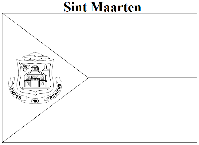 Geography Blog Sint Maarten Flag Coloring Page