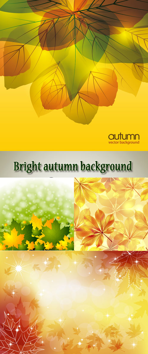 Stock: Bright autumn background