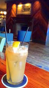 Jacknife PDX cocktail of BYE BYE SWEET PONY with whiskey, quince, lemon, maple syrup, Jackknife ginger beer, salt