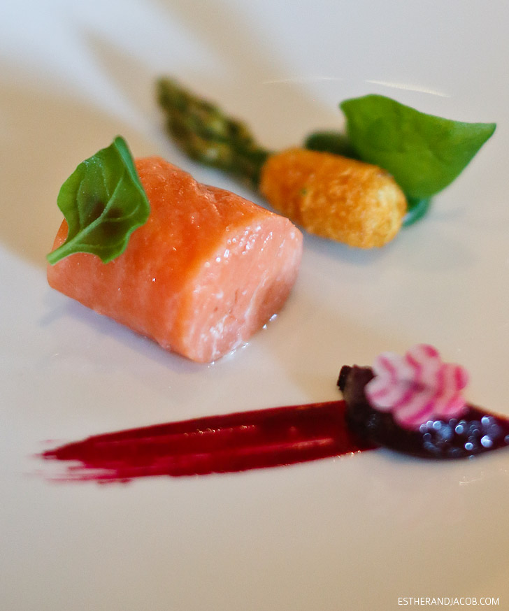 On The French Laundry Menu: Slow-Cooked Fillet of Wild King Salmon.