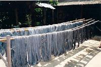 マクルア(青黒檀の実)で染められた木綿糸.何度も染められ、回数が増す程に色も深くなっていく。自然からもらった色は心にも優しい。