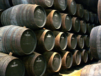 Port barrels in Vila Nova de Gaia