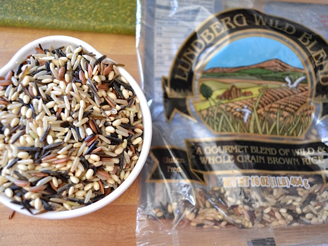 wild rice mix in package