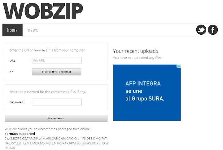 Descomprimir archivos zipeados